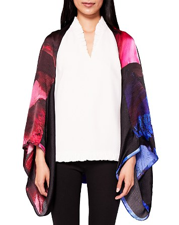 $Ted Baker Issy Impressionist Cape Silk Scarf - Bloomingdale's