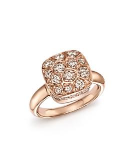 Pomellato - Nudo Ring with Brown Diamonds in 18K Rose & White Gold