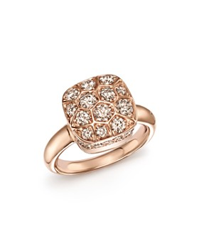 Pomellato - Nudo Ring with Brown Diamonds in 18K Rose & White Gold