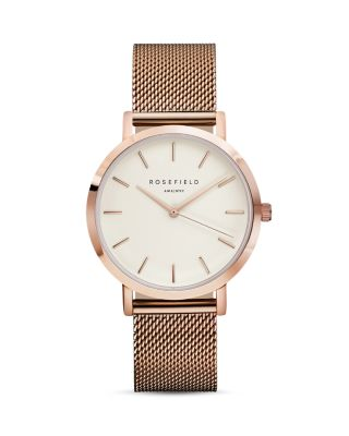 ROSEFIELD Mwr-M42 Mercer Pvd Rose Gold-Plated Watch in Pink