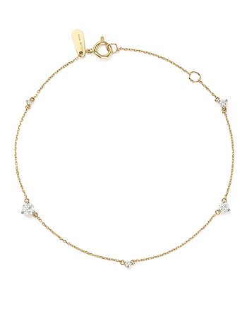 Adina Reyter - 14K Yellow Gold Amigos Five Diamond Station Bracelet