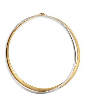 Marco Bicego 18K White & Yellow Gold Masai Two Strand Necklace, 15