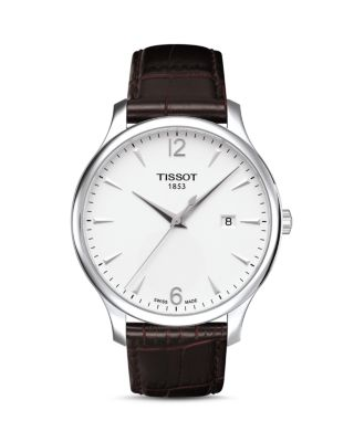 TRADITION LEATHER STRAP WATCH, 42MM