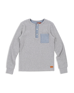 7 For All Mankind Boys Ribbed Henley  Big Kid