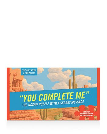 Knock Knock - You Complete Me Message Jigsaw Puzzle