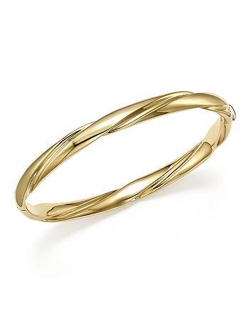 Bloomingdale's - 14K Yellow Gold Wide Polished Twist Bracelet - 100% Exclusive
