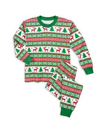 Sara's Prints - Unisex Fair Isle–Print Holiday Pajama Set - Little Kid