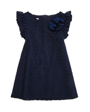 Pippa & Julie Girls' Flutter-Sleeve Lace Dress - Little Kid thumbnail