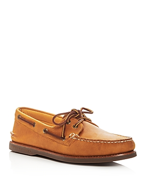 Sperry Men's Gold Authentic Original Two Eye Leather Boat Shoes