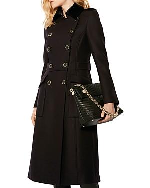 Karen Millen Double-Breasted Military-Style Coat