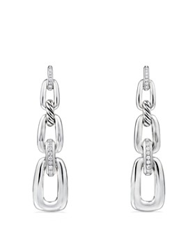 David Yurman - Wellesley Linked Chain Drop Earrings with Diamonds