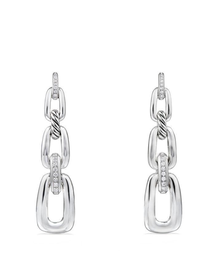 David Yurman Wellesley Linked Chain Drop Earrings with Diamonds  | Bloomingdale's