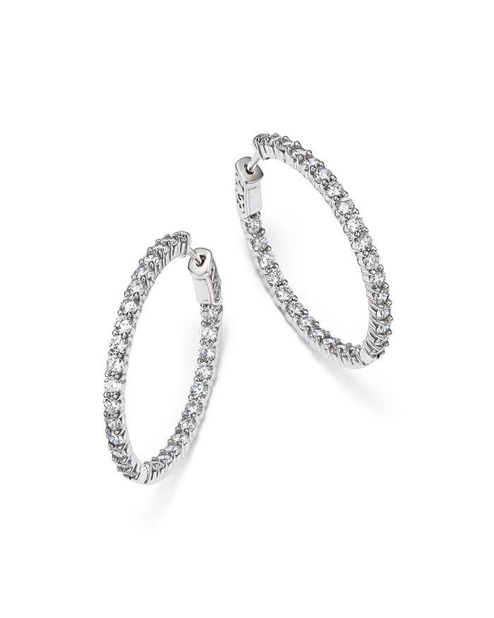 Bloomingdale's Diamond Inside Out Hoop Earrings in 14K White Gold, 4.0 ct. t.w. - 100% Exclusive     Bloomingdale's