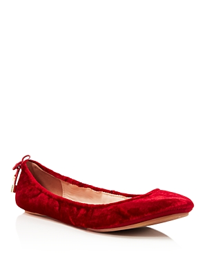 kate spade new york Women's Globe Velvet Travel Ballet Flats