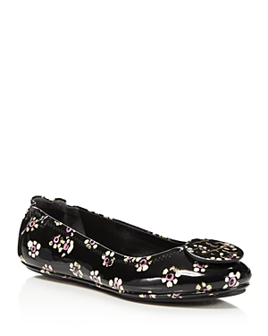 Tory Burch Women's Minnie Patent Leather Travel Ballet Flats