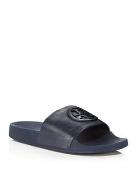 Tory Burch - Women's Lina Leather Pool Slide Sandals