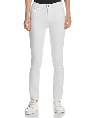 Derek Lam 10 Crosby Devi Mid-Rise Authentic Skinny Jeans in White