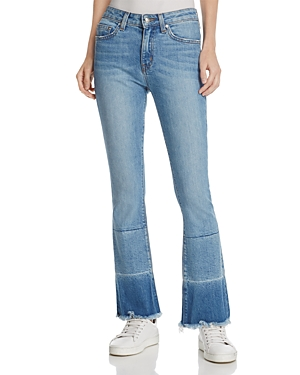Derek Lam 10 Crosby Jane Mid-Rise Flip-Flop Jeans in Light Wash
