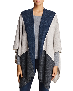 Three Dots Donegal Knit Poncho