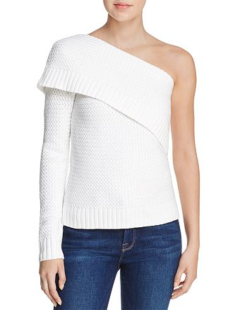 AQUA - One-Shoulder Sweater - 100% Exclusive