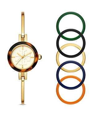 Tory Burch The Gigi Three-Hand Bangle Watch, 27mm