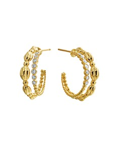 Gumuchian - 18K Yellow Gold Nutmeg Diamond Double Hoop Earrings