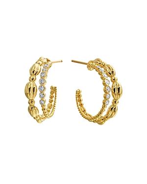 Gumuchian 18K Yellow Gold Nutmeg Diamond Double Hoop Earrings