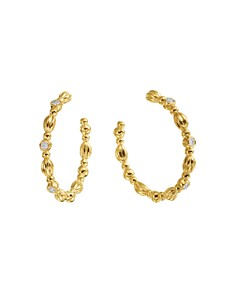 Gumuchian - 18K Yellow Gold Nutmeg Diamond Hoop Earrings