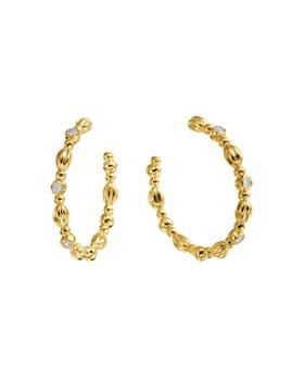 Gumuchian - 18K Yellow Gold Nutmeg Diamond Hoop Earrings