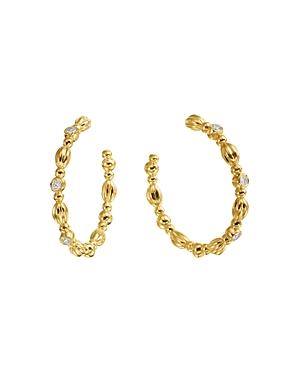 Gumuchian 18K Yellow Gold Nutmeg Diamond Hoop Earrings
