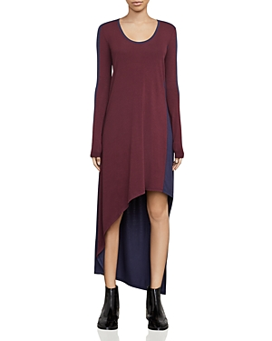 Bcbgmaxazria Miney Asymmetric Color-Block Dress