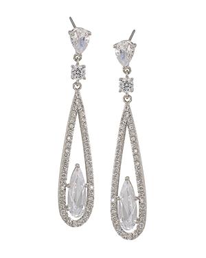 Carolee Long Linear Drop Earrings