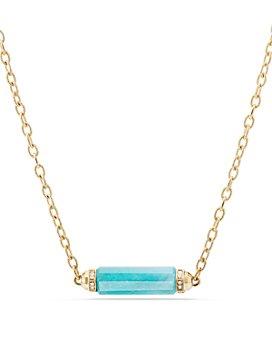David Yurman - Barrels Single Station Necklace with Gemstones & Diamonds in 18K Yellow Gold
