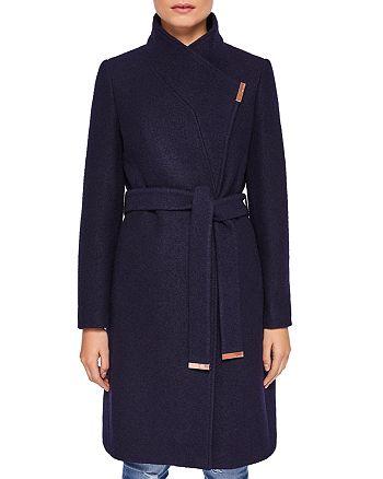 Ted Baker - Zetea Textured Long Wrap Coat