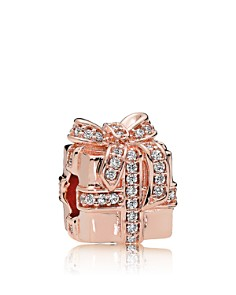 PANDORA Charm - Sterling Silver & Cubic Zirconia Sparkling Surprise Rose - Bloomingdale's_0
