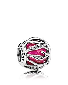 PANDORA Charm - Sterling Silver, Cubic Zirconia & Enamel Nature's Radiance - Bloomingdale's_0