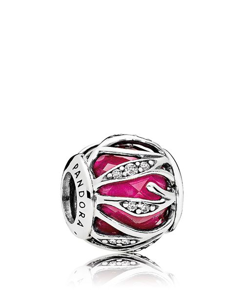 PANDORA - Charm - Sterling Silver, Cubic Zirconia & Enamel Nature's Radiance