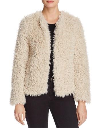$Vero Moda Jayla Shaggy Faux Fur Coat - Bloomingdale's