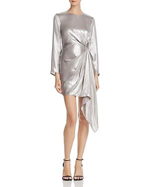 Bardot Ruched Metallic Dress