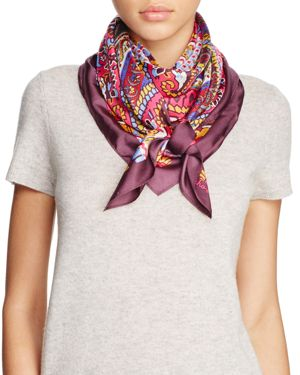 Echo York Paisley Silk Square Scarf