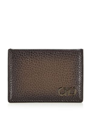 Salvatore Ferragamo Firenze Glow Pebbled Leather Card Case