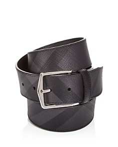 Burberry - Joe London Check Leather Belt