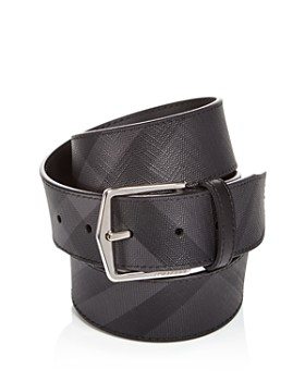 Burberry - Men's Joe London Check Leather Belt