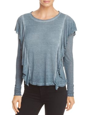 Yfb On The Road Harlow Ruffled Top