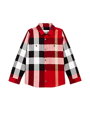 Burberry Boys Mini Camber ButtonDown Check Shirt  Little Kid Big Kid