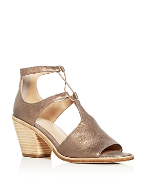 Eileen Fisher Women's Lou Nubuck Leather Ankle Strap High Heel Sandals