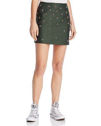 8798d6835c040e C/MEO Collective Assemble Embellished Mini Skirt | Bloomingdale's