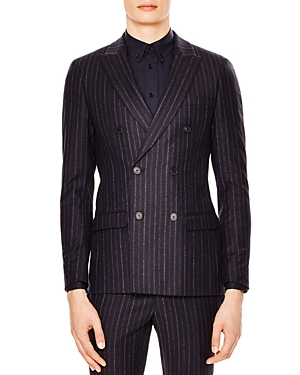 Sandro Croise Striped Slim Fit Sport Coat