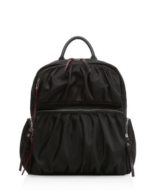 MZ WALLACE Madelyn Bedford Nylon Backpack - Black in Black/Silver
