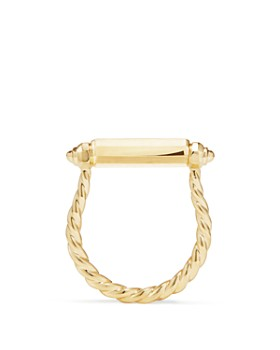 David Yurman - Barrels Ring with Diamonds in 18K Gold